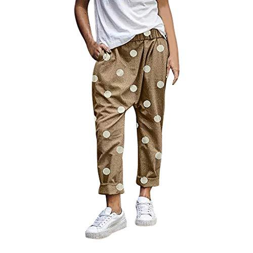 Auiyut Damen Stoffhose 2019 Mode Lässig Haremshose Streetwear Loose Hosen Lange Hose Bequeme Loose Fit Hose Freizeithose Yoga Wave Point Weite Hose