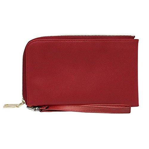 MightyPurse Spark Wristlet - Vegan Leather, Smartphone Charging Wristlet - Red