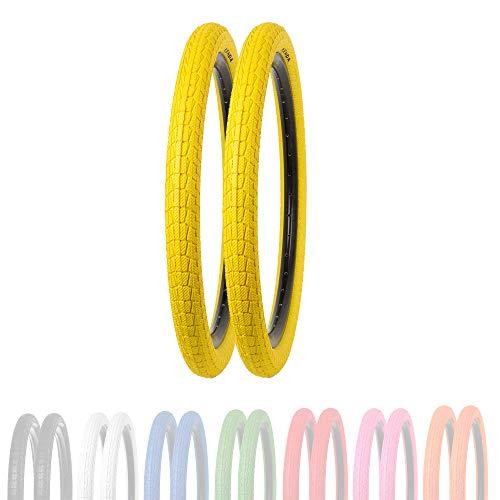 P4B | 2 neumáticos infantiles de 20 pulgadas (50-406) | 20 x 1,95 | caja reforzada para mayor protección contra pinchazos | para BMX, Freestyle y bicicletas infantiles