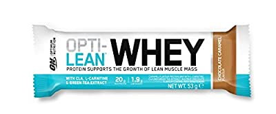 Optimum Nutrition Opti-Lean Whey Protein Bar with CLA, L-Carnitine and High Fibre. Low Sugar Protein Bar by ON from OPTIMUM NUTRITION INC