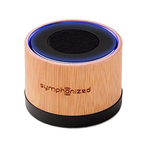 Symphonized NXT Premium transportabler Bluetooth Lautsprecher - aus einem Stück echtem, handgearbeitetem Bambus. Kompatibel mit Bluetooth-fähigen iOS und Android Geräten und MP3 Playern (Bambus)