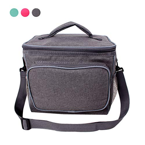 Lunch Bag Leakproof Adult Lunchbox Large Capacity Cooler Tote Bag With Removable Shoulder Strap Lunch Organizer For Men/Women (GREEN)