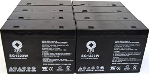 SPS Brand 1223W Replacement Battery for CSB HC1217W (8 Pack)