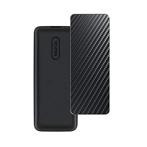 VacFun 2 Piezas Protector de pantalla Posterior, compatible con Nokia 105 2017, Película de Trasera de Fibra de carbono negra