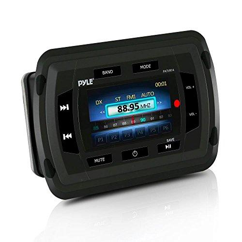 Pyle PATVR14 Marine-Bluetooth-Audio- / Videoempfänger - Wasserdichtes A / V-Stereo-Steuergerät, LCD-Farbdisplay, USB-Lesegerät