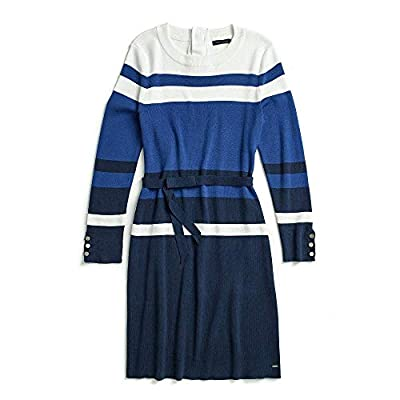 Tommy Hilfiger Women's Adaptive Colorblock Dress with Magnetic Buttons, surf the web, XS