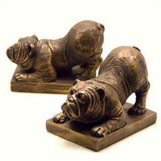 Bulldog Bookends Pair