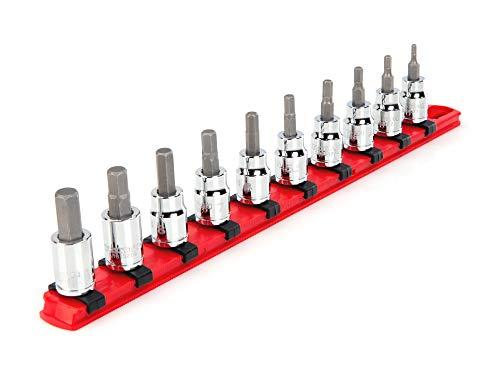 TEKTON 3/8 Inch Drive Hex Bit Socket Set, 10-Piece (3-10 mm)   SHB91102