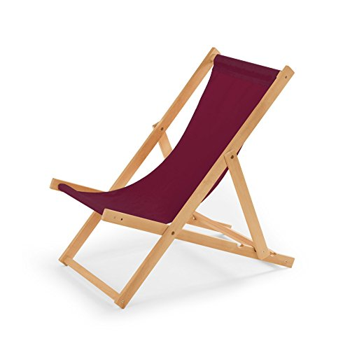 IMPWOOD Gartenliege aus Holz Liegestuhl Relaxliege Strandstuhl (Bordeauxort)