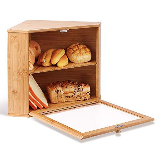 Corner Bread Box with Shelf