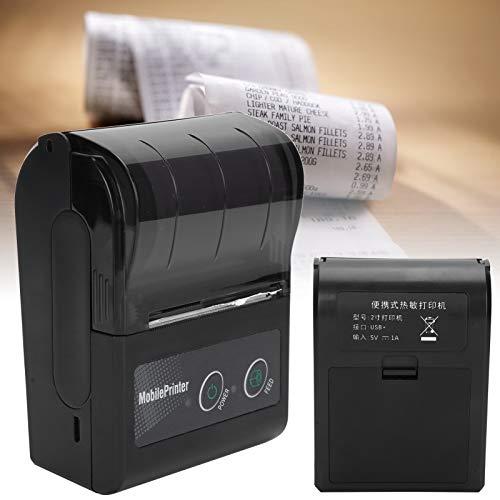 Fdit Impresora térmica de Tickets, Impresora térmica portátil compacta de Recibos de Peso Ligero, para impresión de facturas de Taxi en el hogar(Transparency)