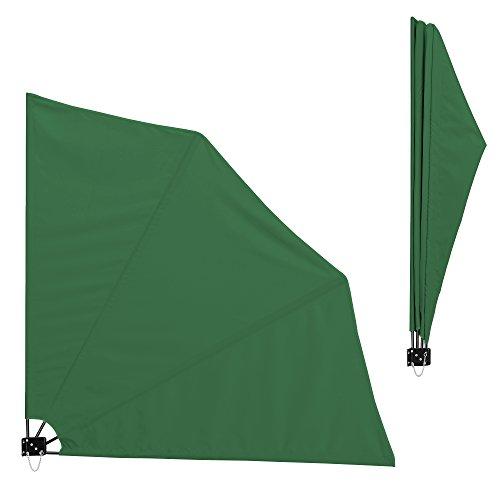 [casa.pro] Toldo lateral para balcón (verde)(160 x 160 cm) plegable - pantalla protectora - protección contra viento privacidad