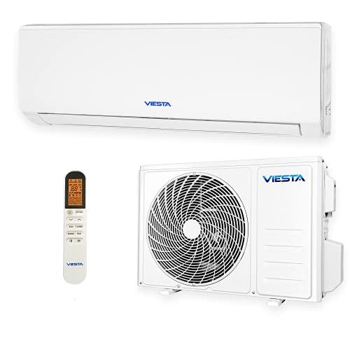 VIESTA 12SE Climatiseur Split Kit Climatisation, Climatiseur reversible Radiateur Climatiseur avec Titanium Gold, Télécommande et WiFi App (12000 BTU)