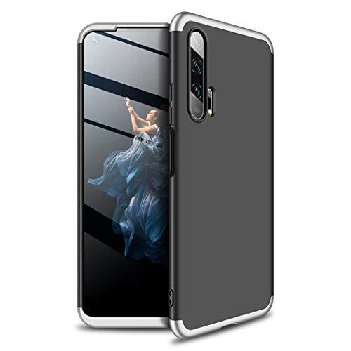 TXLING Funda Xiaomi Redmi Note 7 Bumper 3 en 1 Estructura 360 Grados Case Ultra-Delgado Anti-rasguños Carcasa para Xiaomi Redmi Note 7 Negra + Cristal Templado