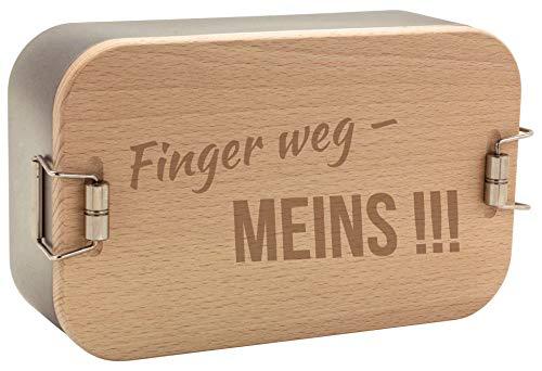 Spruchreif PREMIUM QUALITÄT 100% EMOTIONAL · Metall Lunchbox mit gravierten Frühstücksbrettchen · Lunchbox Metall · Brotdose für Kinder und Erwachsene · Outdoor Geschenke · Einschulungsgeschenke