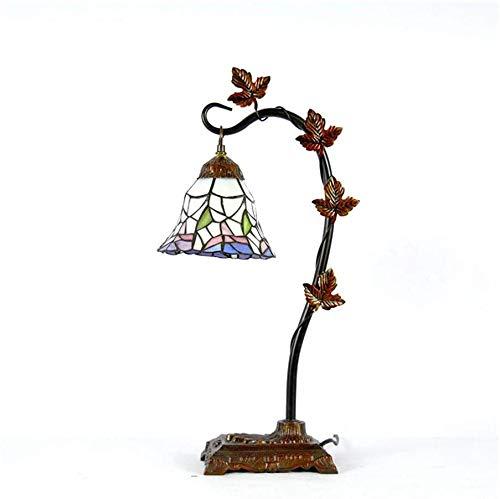 Lámpara de mesa estilo mini acento, antigüedades retro de noche de noche decoración,A