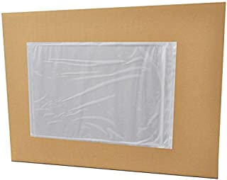 7x10 Packing Slip Envelope Pouches, Mailing Bag Sleeves, Clear White, 7 x 10 inch, Self Adhesive, 1000 Pack