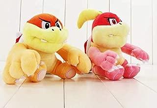 hhh INC 2pcs / lot Koopa Bowser Boom The Boom and Pom Pom SSuper Super Mario Plush Toy Stuffed Doll Animal Doll S7110 Gift