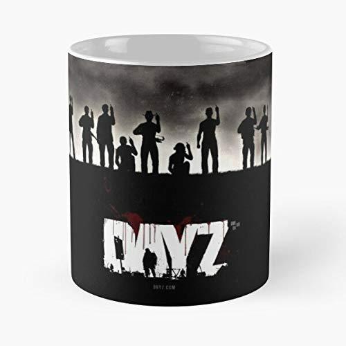 Dayz – Taza de café de cerámica de mármol blanco con texto en inglés «Le Personal»