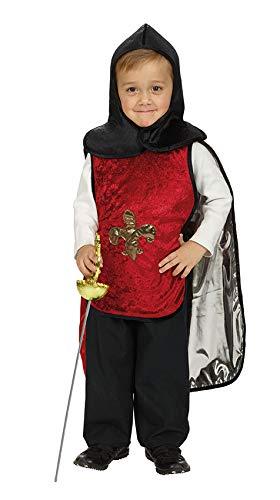 Andrea Moden omkeerbaar kostuum voor kinderen musketier/ridder