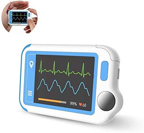 Wellue HeartMate EKG Monitor mit PC-Bericht, Tragbarer EKG Gerät für Vorhofflimmern, Arrhythmie/Vorzeitiger Schlag/Unregelmäßiger Rhythmus-Detektor, Wiederaufladbarer Mobile EKG Herzfrequenzmonitor