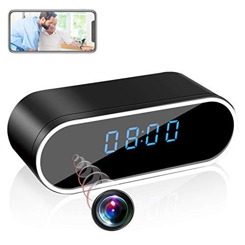 HD 1080P WiFi Hidden Spy Camera Alarm Clock Night Vision/Motion Detection/Loop Recording Home Surveillance Cameras