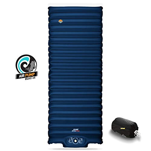 ZOOOBELIVES Extra Thickness   Wide Plus Sleeping Pad with Built-in Pump, Inflatable Camping Mattress...