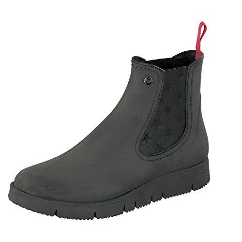 GOSCH SHOES Damen Schuhe Chelsea Boots Stiefelette 7105-320 in 6 Farben (38, Schwarz)
