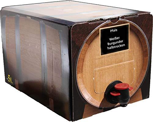Pfälzer Weißwein Weißer Burgunder halbtrocken 1 X 5 L Bag in Box direkt vom Weingut Müller in Bornheim
