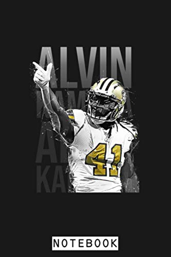 Alvin Kamara Notebook: Planner, Diary, Journal, Matte Finish Cover, Lined College Ruled Paper, 6x9 120 Pages