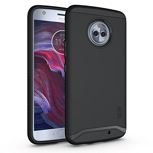 Moto X4 Case, Slim-Fit Heavy Duty [Merge] Extreme Protection/Rugged but Slim Dual Layer Case for Motorola Moto X4 / Android One Moto X4 (Matte Black)