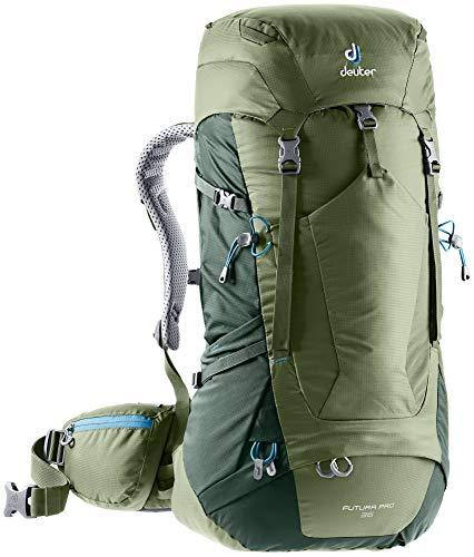 Deuter Futura Pro 36 - Zaino da trekking, Unisex - Adulto, Zaino da escursionismo (fino a 45 L), 3401118, Verde (Khaki-ivy)., 36 L