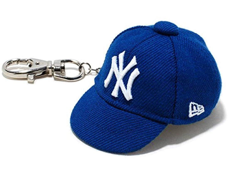 乱闘夢あからさまニューエラ キャップキーホルダー ニューヨーク?ヤンキース 11117966 青/白 59FIFTY CAP KEYHOLDER Newyork Yankees bright royal/white