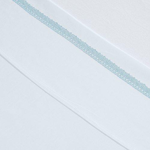 Jollein 008-524-64988 laken en kussensloop, 120 x 150 cm, Crochet, blauw