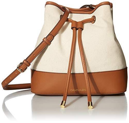 Calvin Klein Gabrianna Novelty Bucket Shoulder Bag, Natural