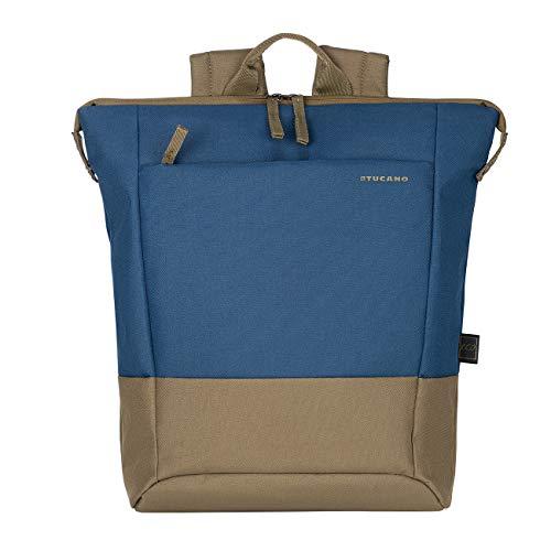Tucano - Zaino Porta Pc 14  Pollici, Compatibile con MacBook PRO 13. Backpack Billo, Zaino Leggero da Ufficio e università, in Poliestere Riciclato