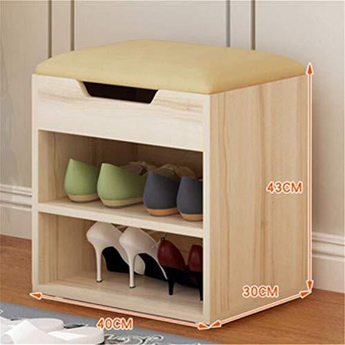 Zapatero multiusos para almacenamiento de zapatos, para sala de estar, sala de estar, balcón, tamaño único, color: amarillo claro