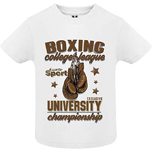 LookMyKase T-Shirt - Boxing League - Bébé Garçon - Blanc - 2ans