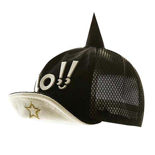Chapeau de plage pliable noir chapeau de chapeau chapeau de coton Grand cadeau pour mode enfant Sunh