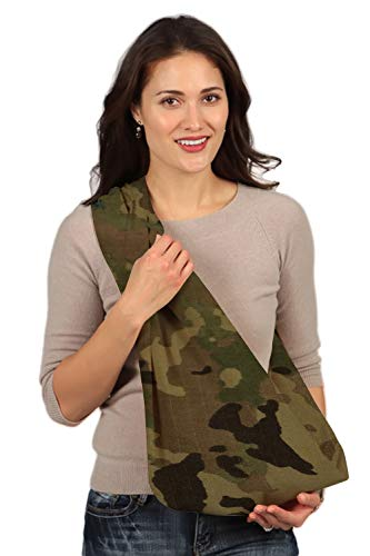 HugaMonkey Camouflage Military Baby Sling Wrap Carrier for Newborn Babies, Infants and Toddlers Upto 3 Years - Light Green, Small