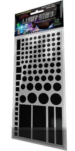 LightDims Black Out-Edition - Lichtblockierende LED Abdeckung/Lichtdimmer Sheets für Router, Elektronikgeräte, Haushaltsgeräte und mehr. Blockiert 100% Licht, in Verkaufsverpackung