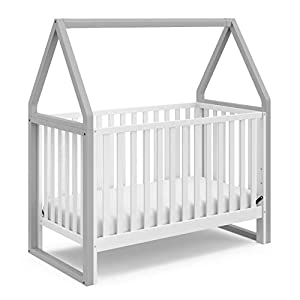 Storkcraft Orchard 5-in-1 Convertible Crib (Pebble Gray)-Easily Converts to Toddler Bed, Daybed, Full-Size Bed, and Playhouse, Detachable Canopy, 3-Position Adjustable Mattress Support Base
