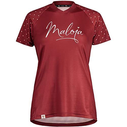 Maloja Argoviam Multi 1/2 T-Shirt, Damen M Roter Mönch