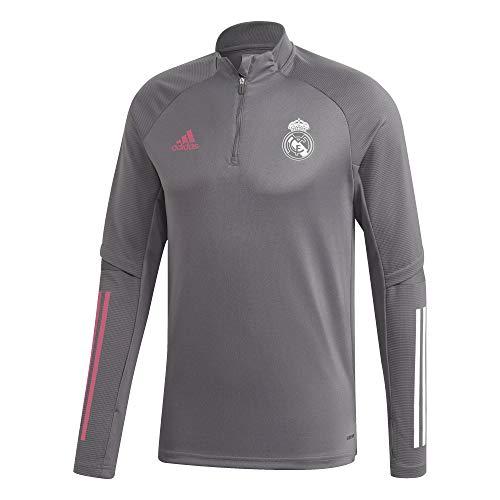 Adidas Real Madrid - Chaqueta Entrenamiento Oficial TR TOP Temporada 2020/21, Unisex, M, Gris