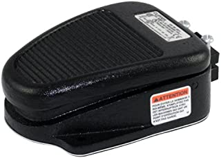 Linemaster 632-S Clipper Foot Switch, Electrical, Single Pedal, Momentary, Single Stage, No Guard, Black