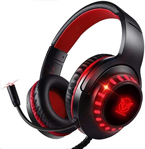 Pacrate Gaming Headset for PS4 Xbox One PC with Noise Cancelling Microphone Stereo Surround product image