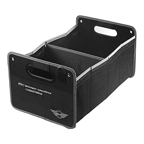 AniFM Car Boot Organizer mit Logo Automodell Autozubehör Net Bag Zusammenklappbare, ordentliche, Faltbare Hochleistungsaufbewahrung für BMW Mini Cooper,B