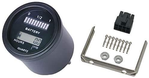 Wxxdlooa Rl-Bi011 Accu-indicator Agm Gel voltmeter batterij-indicator met tijdmeter voor motorfiets ATV tractor reinigingsmachine