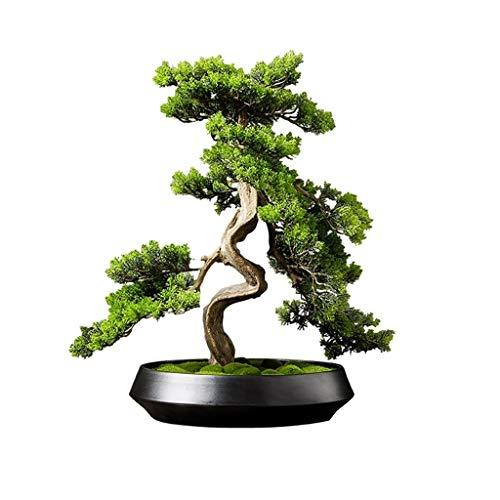Zyj stores Chinesische Simulation Pflanze Bonsai Willkommen Kiefer Bonsai-Bäume Gefälschte Topfpflanzen Indoor Evergreen Heim Tabelle Home Hotel Gartendeko