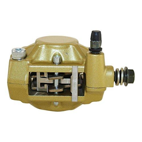 Bremssattel 1 Kolben hinten gold für Malaguti F12 F15, Piaggio Liberty